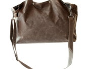 Waxed Canvas Tote - The Porter in Brown