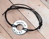 Dream It Do It - Walt Disney Quote Metal Stamped Bracelet or Necklace