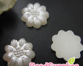 One Dollar - CA-AR-00205- Acrylic pearl, petite sunflower, 12 pcs