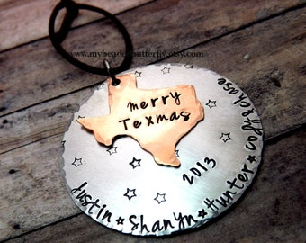Texas Christmas ornament-personalized ornament-Merry Texmas-Texas ornament-christmas