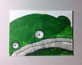 Green Monster ACEO by Aaron Butcher