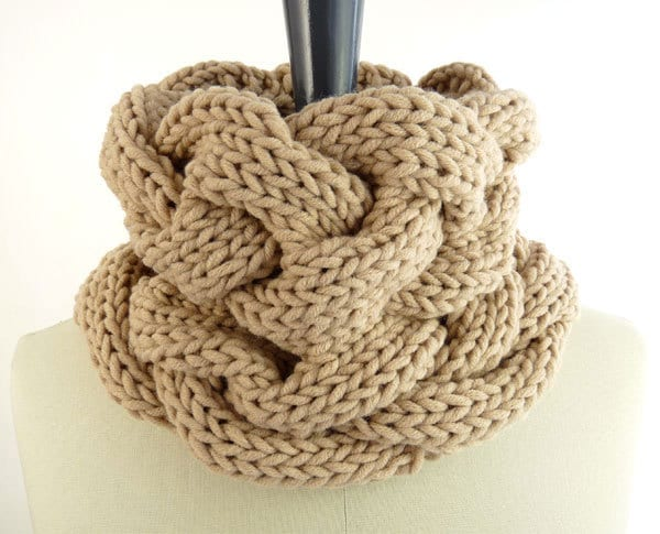 Knitted Snoods Free Patterns : PDF Knitting PATTERN / Printable Knitting INSTRUCTIONS to Hand