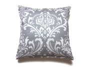 Decorative Pillow Cover Gray White Traditional Design Toss Accent Throw Cover 16 inch
