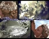 The Princess Bride Silver Flowers and Leaves Crown-Wedding-Fairy-Crown-Tiara-Faeryspell Creations