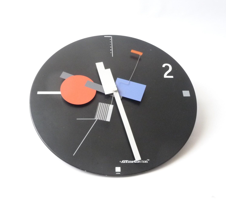 1980s Memphis Modernist Clock