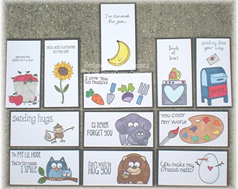 Lunch Box Love Notes 17a, Lunch Notes for Kids, Lunch Box Notes