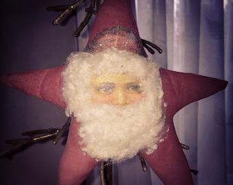 Primitive Santa Ornie