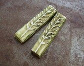 Leafy Green Matchstick Earring Charms
