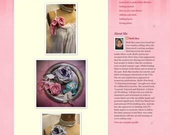 Fabric flower online class