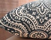 Add Personalization - DESIGNER Pet Bed Duvet Cover - Stuff with Pillows - YOU Choose Fabric - Dakota Macon Timberwolf/Natural shown