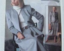 Vintage 80s Simplicity 7685 Connoisseur Collection Misses' Suit in Two Lengths Size 12 UNCUT