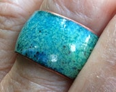 Sweetest Thing Enameled Ring Size Made to order