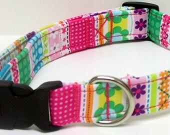 Spring Fling Handmade Dog Collar