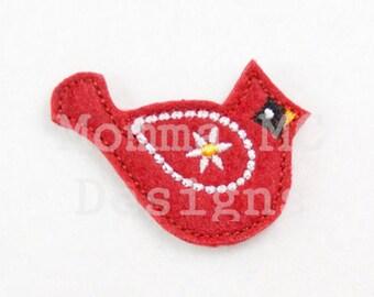 Cardinal Felt Feltie Embroidery Design