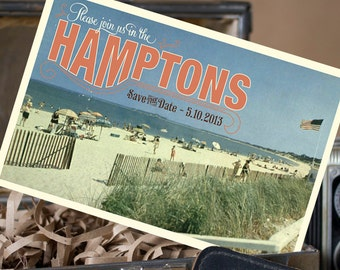 Vintage Postcard Save the Date (Hamptons) - Design Fee