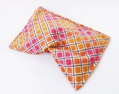 Natural Flax Heating Pad - Hot / Cold Therapy Pack - Cramps, Sore Muscles, Back Pain - Autumn Sunset Squares
