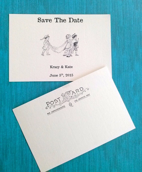 Save the date Postcards, Personalized, Invitation, 25 cards, wedding invite