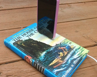 SALE IPhone Charging Dock Station Hardy Boys Book House on the Cliff Docking Charger Tech Lover Mobile Accessories