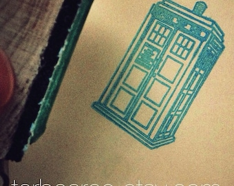 Doctor Who Tardis Rubber Stamp