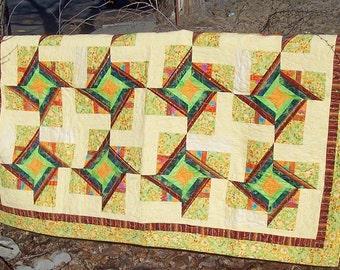 Tropical Winds Patchwork Quilt