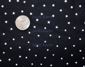 Tiny Stars on Black Fabric - REMNANT Size 23 Inches by 44 Inches