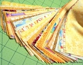 Yellow Pre Cut Jelly Roll, 40 Precut Strips of 20 Different Patterns, Craft Supplies, Quilting Supplies,