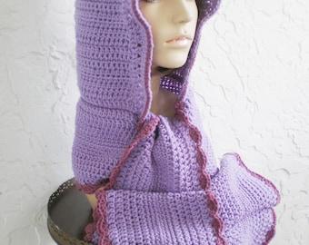 Crochet Cowl Hood   FaveCrafts.com - Christmas Crafts