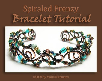 Spiraled Frenzy Annealed Copper Wire Bracelet Tutorial