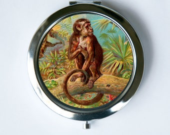 Monkey Compact MIRROR Pocket Mirror jungle zoo