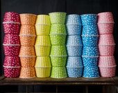 24 polka dot nut cups - available in 12 colors!