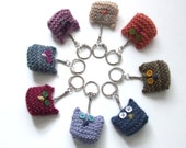 Sweet Little Owlets keyring - knitting pattern pdf