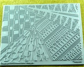 Tempest Helen Breil Texture Zentangle Embossing Intricate Rubber Stamp