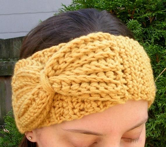 Crochet Pattern Ear Warmer Winter Headband With Bow Easy