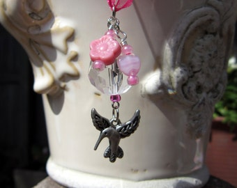 Rearview Mirror Jewelry Charm Car Feng Shui Hummingbird