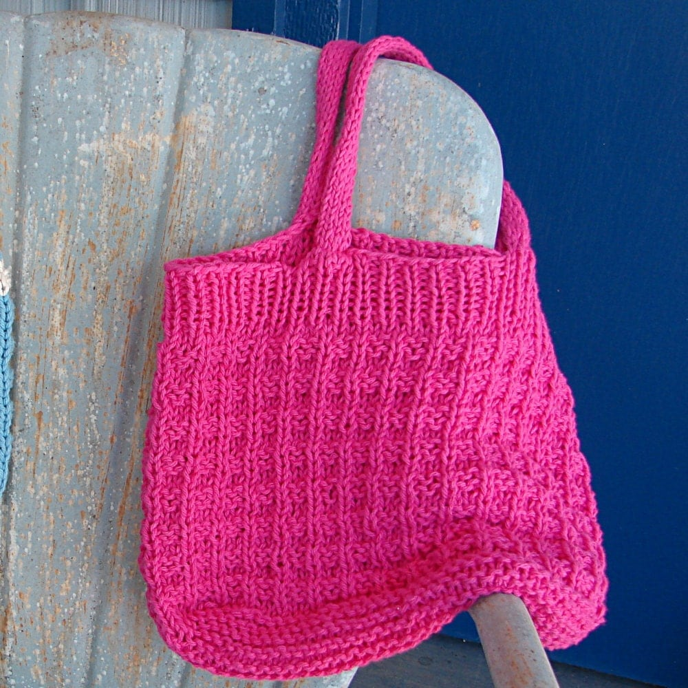 Pattern for knit shopping tote bag hand knit pattern purse bag zoom bankloansurffo Gallery