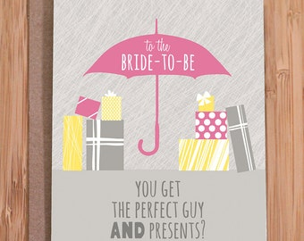 bridal shower card / funny / not fair