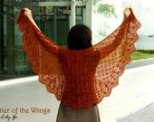 Flutter of the Wings Knitting Shawl Pattern in PDF