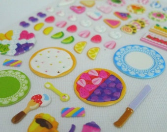 Cute Puffy Japanese Sticker -  Birthday Party Platter (1250) Ideal for 3D craft