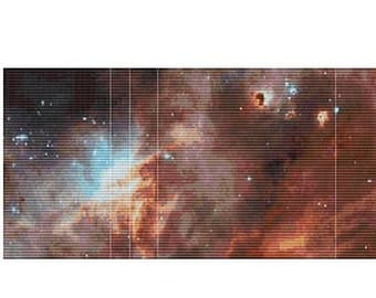 Hubble N11B in rhe Large Magellanic Cloud, pattern for loom or peyote
