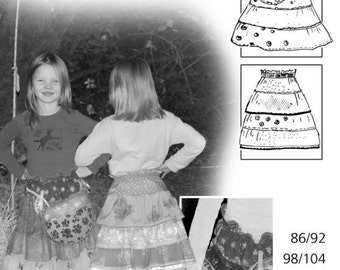 FARBENMIX Euro German Pattern LisAnn Ruffled Skirt Girls Sz 1/14 Ready to Ship SALE