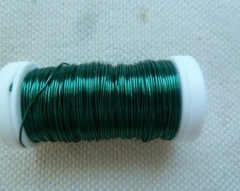 164 Feet of 24 gauge green colored wire