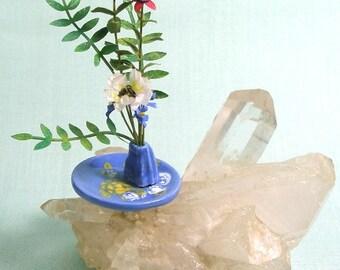 Dolls House Ikebana  with Fuchsia 1:12 Scale Dollhouse Miniature