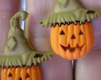 Pumpkin Clip Earring w/Hat