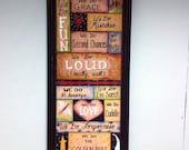 Family sign we do Loud Forgiveness Blessings Love Mistakes I'm Sorry Golden Rule Framed 11 x 27