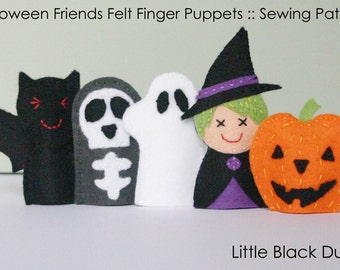 Pattern: Halloween Friends Felt Finger Puppets