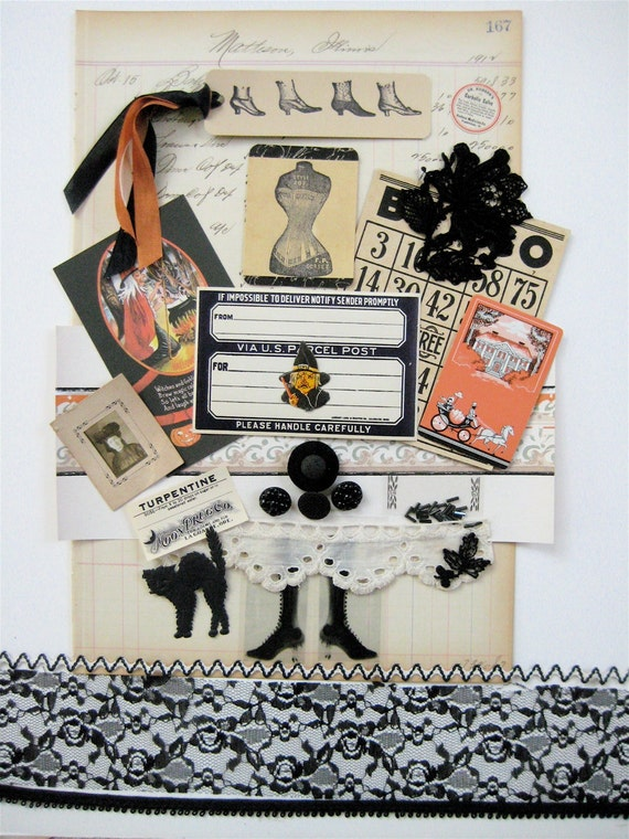 Witches Vintage Gothic Victorian Halloween Collage Pack