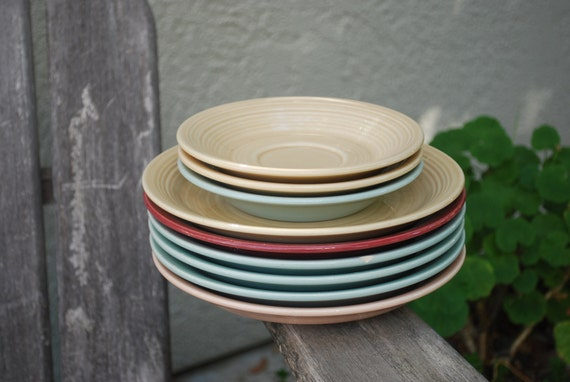 Vintage Franciscan Reflections Plates and Saucers 9 pieces