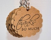 300 Thank You tags - Scrapbooking, Cards, Gifts and More DeeJann on Etsy