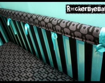 Custom Punk Baby Crib Beddng You Choose The By Rockerbyebaby