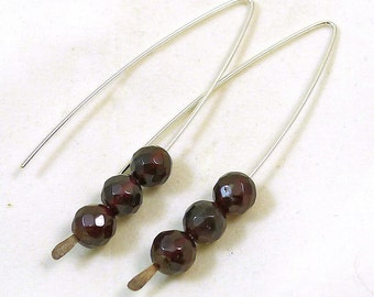 Garnet V Style Earrings